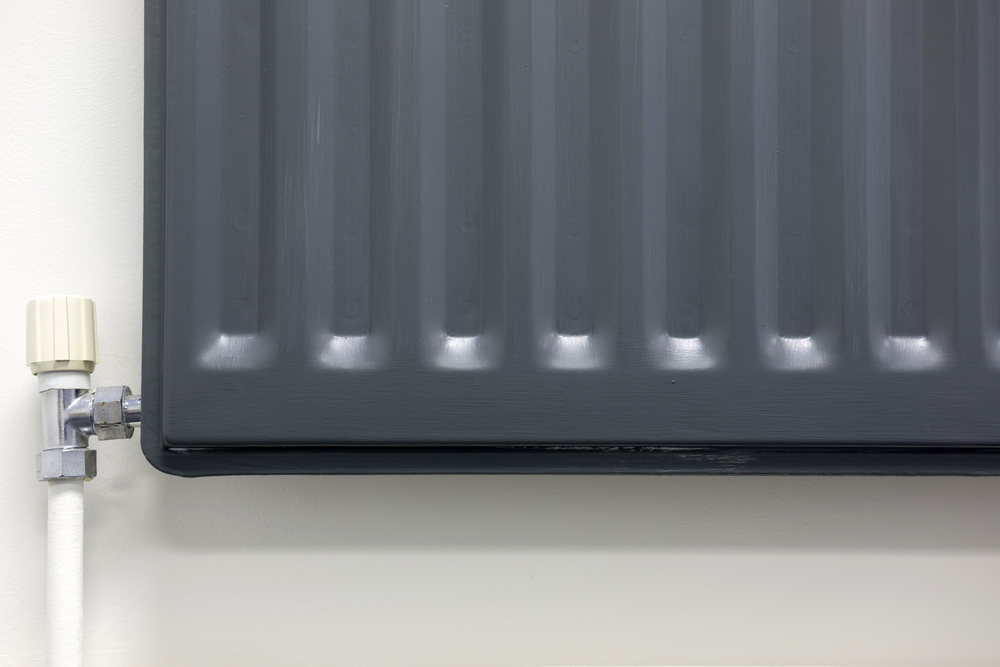 Detail of large radiator in the home